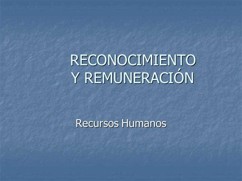 RECONOCIMIENTO Y REMUNERACIÓN Recursos Humanos