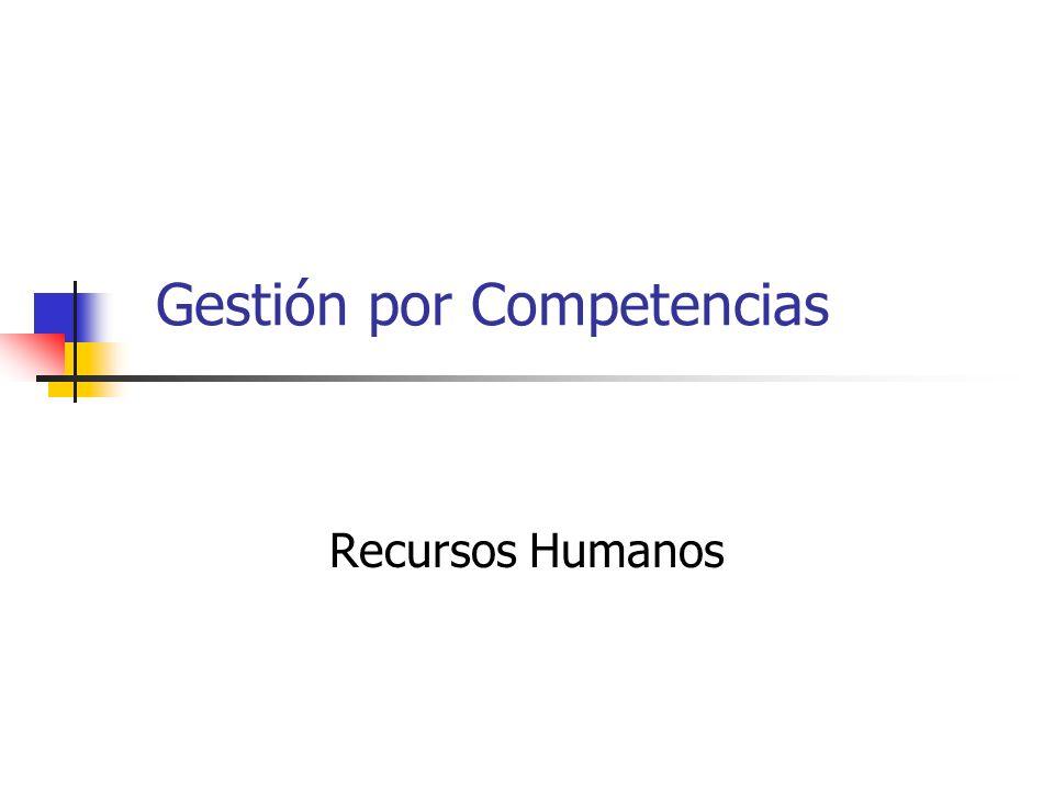 Gestión por Competencias Recursos Humanos