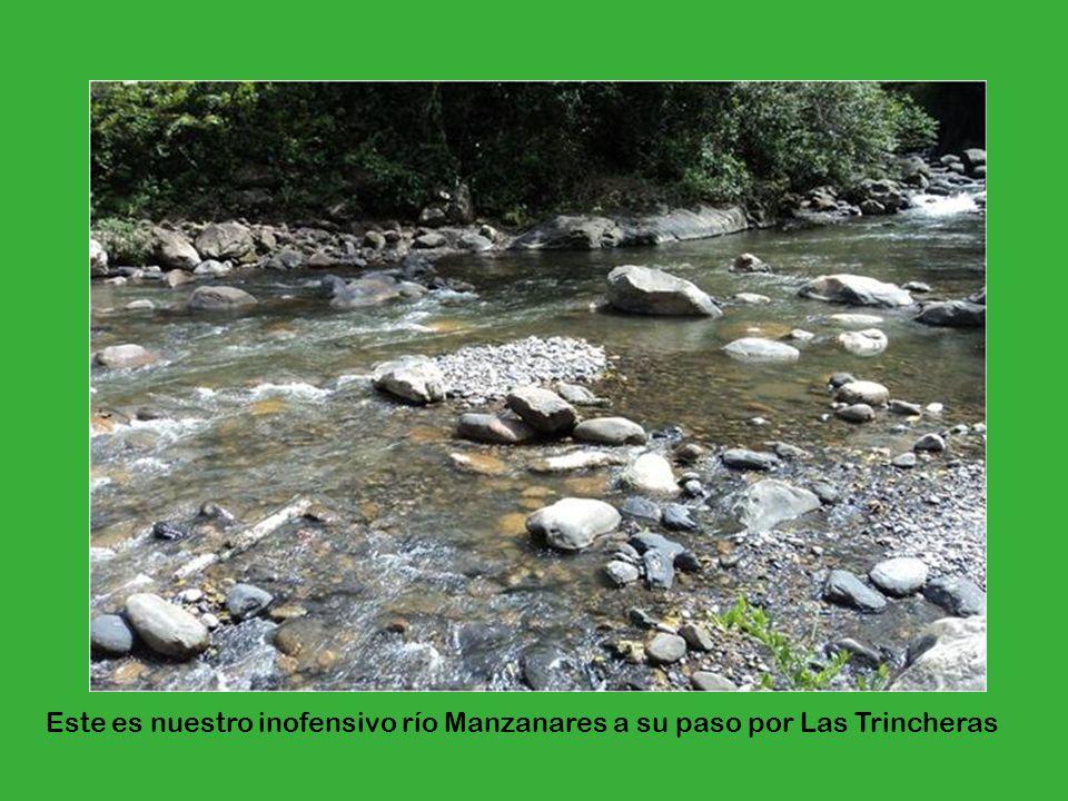 Este es nuestro inofensivo río Manzanares a su paso por Las Trincheras