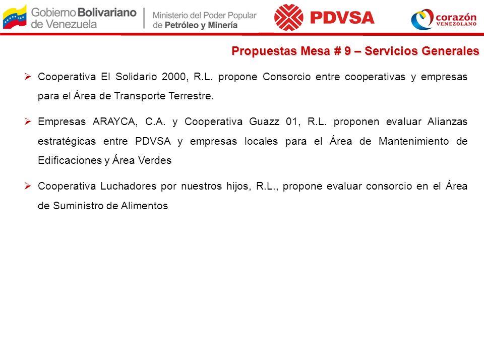 Cooperativa El Solidario 2000, R.L. propone Consorcio entre cooperativas y empresas para el Área de Transporte Terrestre. Empresas ARAYCA, C.A. y Coop
