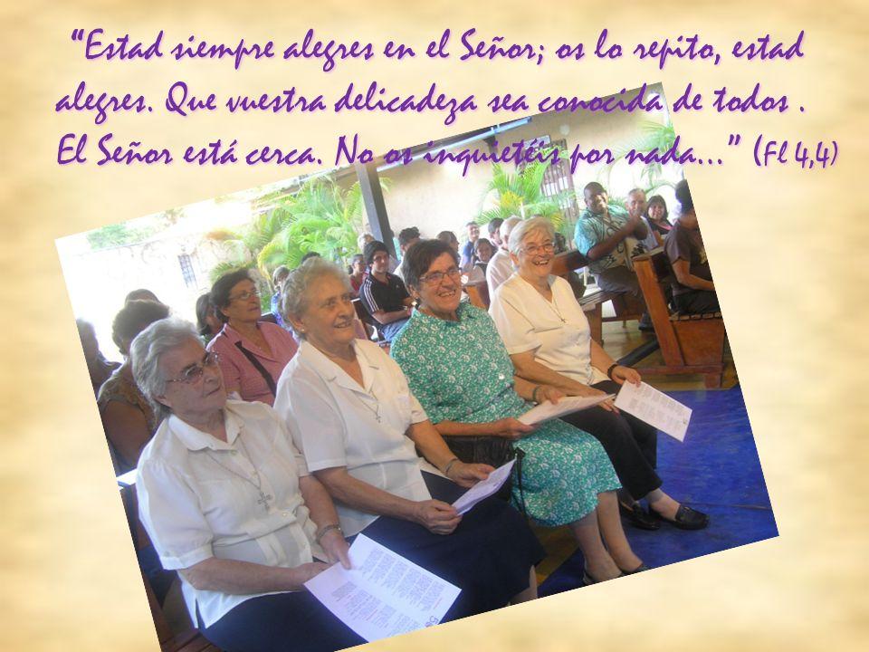 EstadEstad siempre alegres en el Señor; os lo repito, estad alegres. Que vuestra delicadeza sea conocida de todos. El Señor está cerca. No os inquieté