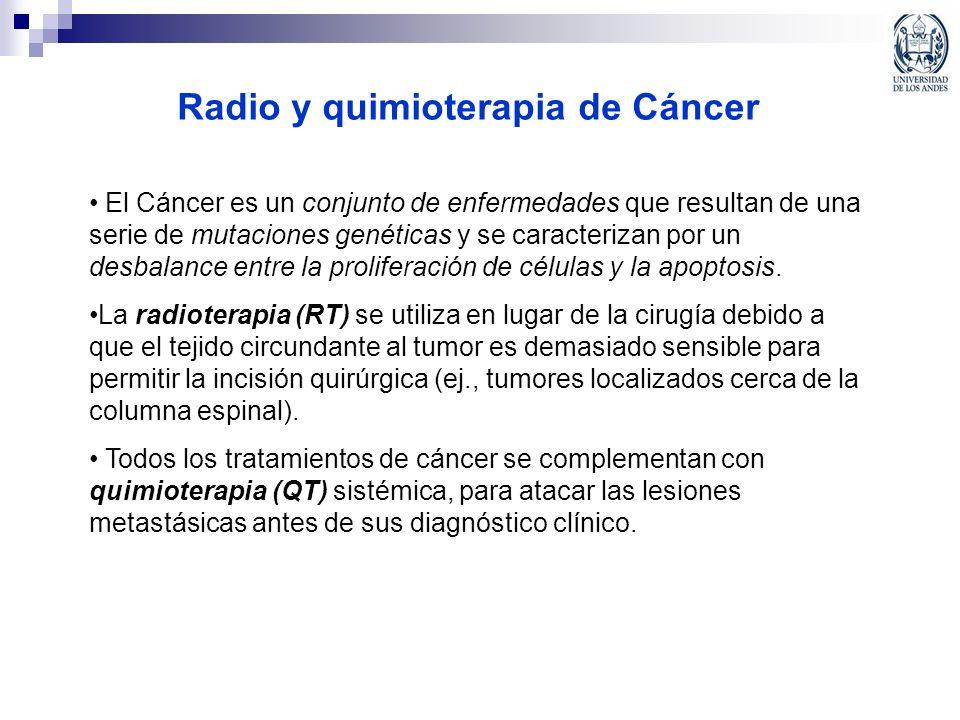 Radio y quimioterapia de Cáncer El Cáncer es un conjunto de enfermedades que resultan de una serie de mutaciones genéticas y se caracterizan por un de