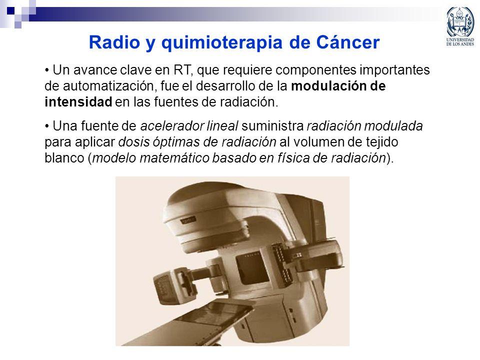Radio y quimioterapia de Cáncer Un avance clave en RT, que requiere componentes importantes de automatización, fue el desarrollo de la modulación de i