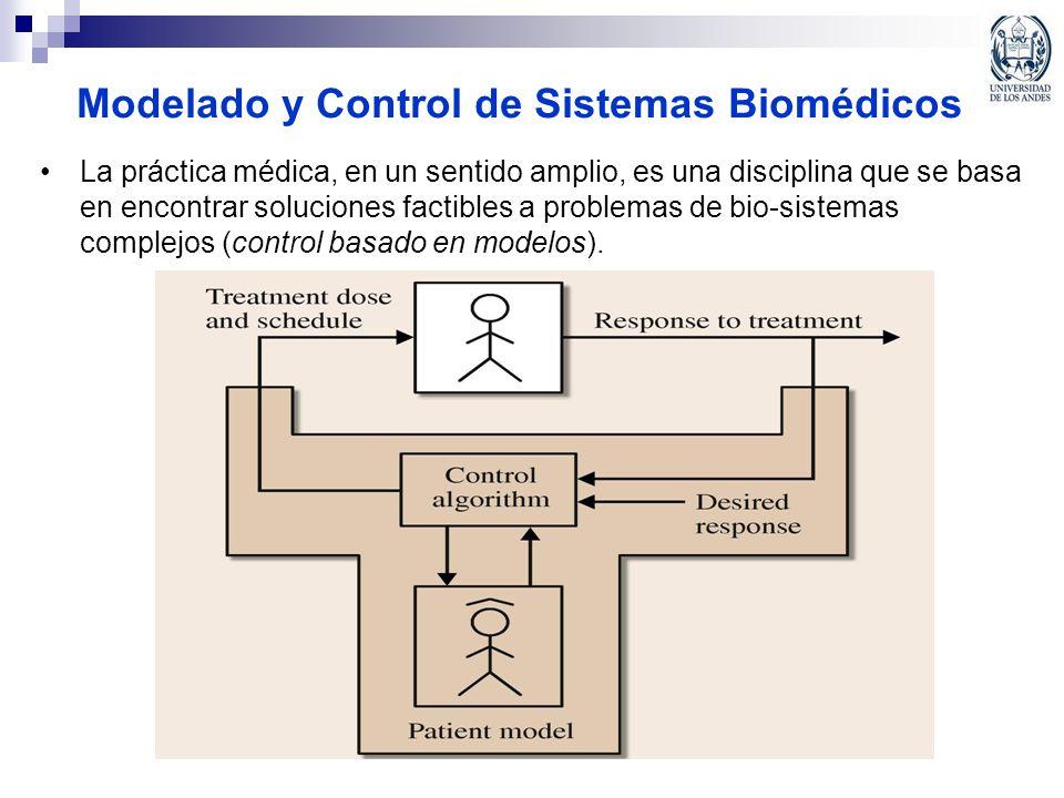 Modelado y Control de Sistemas Biomédicos La práctica médica, en un sentido amplio, es una disciplina que se basa en encontrar soluciones factibles a