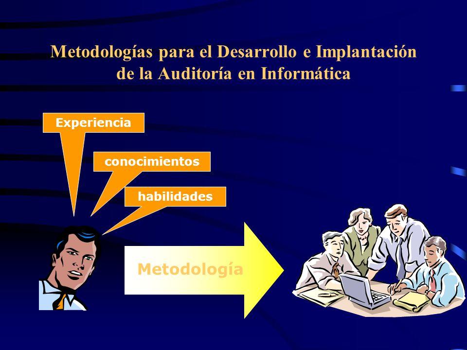 Metodologías para el Desarrollo e Implantación de la Auditoría en Informática conocimientos habilidades Experiencia Metodología