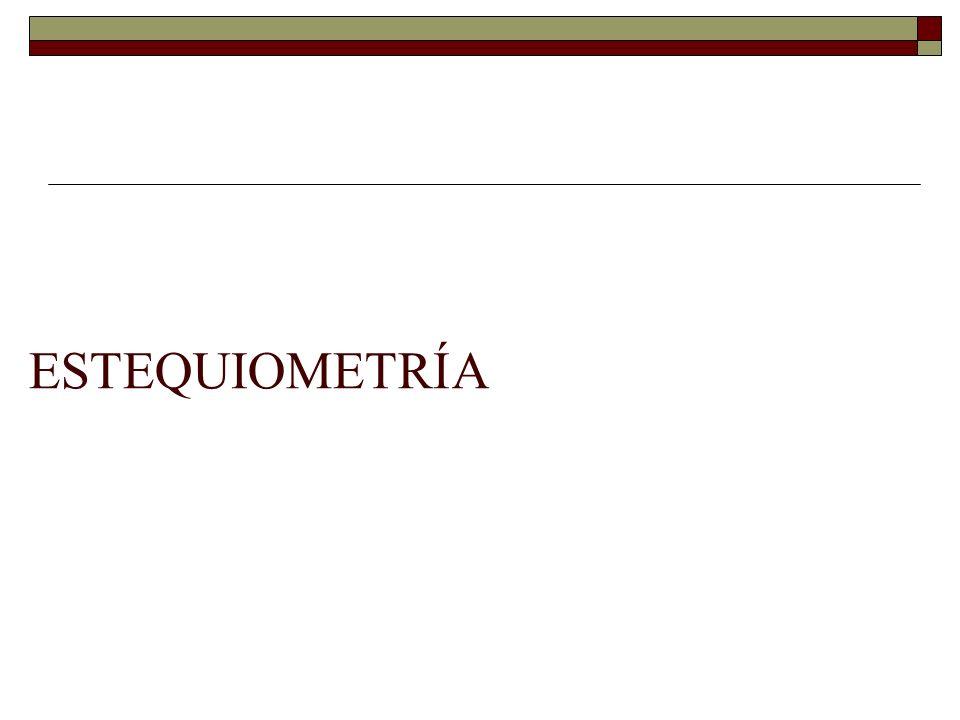 Ley de Lavoisier: conservación de la masa.