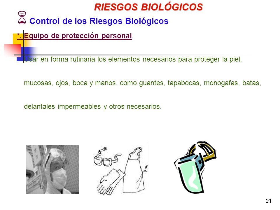 14 RIESGOS BIOLÓGICOS Control de los Riesgos Biológicos *.