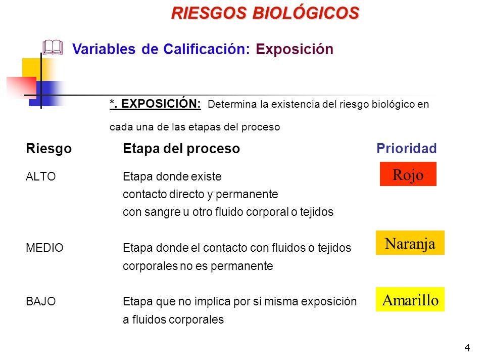 15 RIESGOS BIOLÓGICOS Control de los Riesgos Biológicos *. Equipo de protección personal