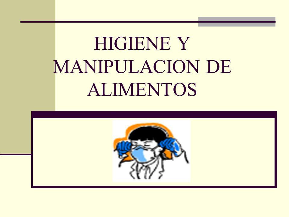 HIGIENE Y MANIPULACION DE ALIMENTOS