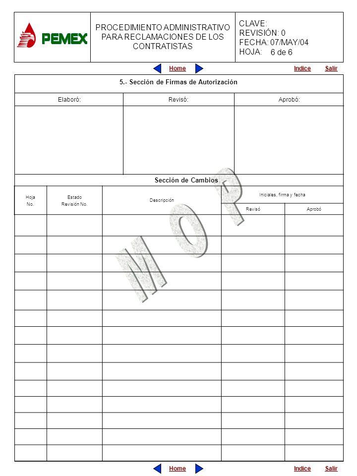 Home Salir Indice Home Salir Indice PROCEDIMIENTO ADMINISTRATIVO PARA RECLAMACIONES DE LOS CONTRATISTAS CLAVE: REVISIÓN: 0 FECHA: 07/MAY/04 HOJA: Hoja