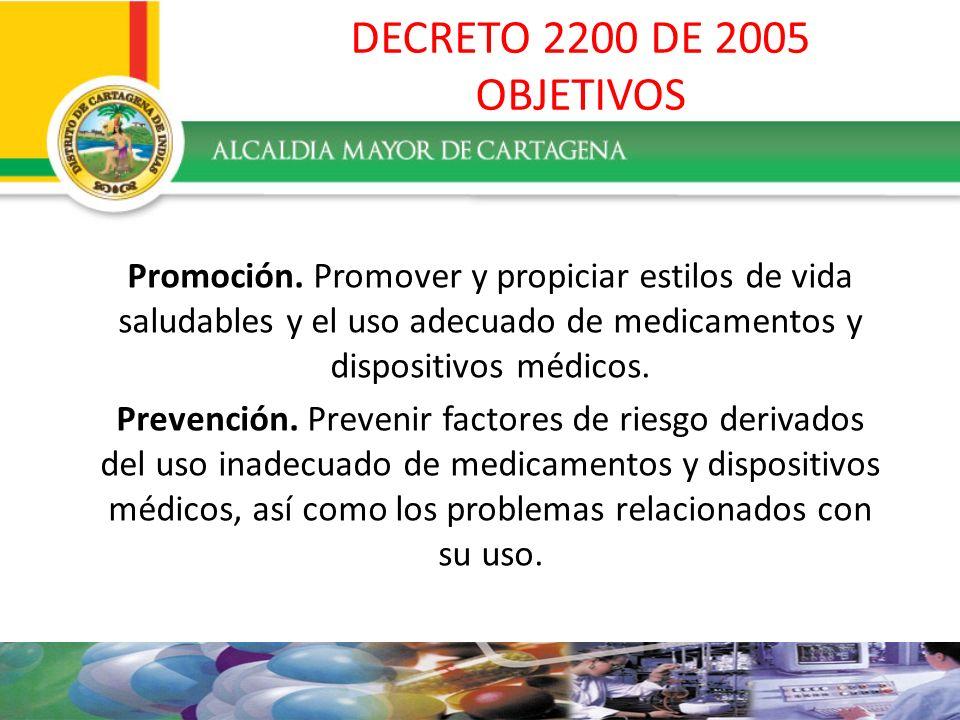 DECRETO 2200 DE 2005 PRINCIPIOS Promoción del uso adecuado.