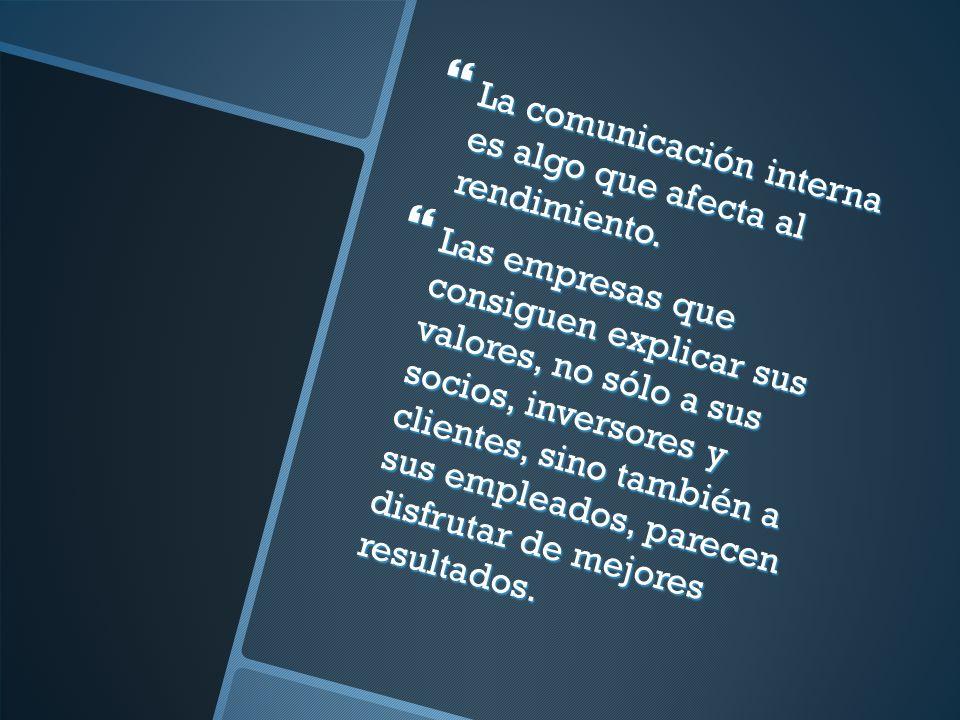 La comunicación interna es algo que afecta al rendimiento.