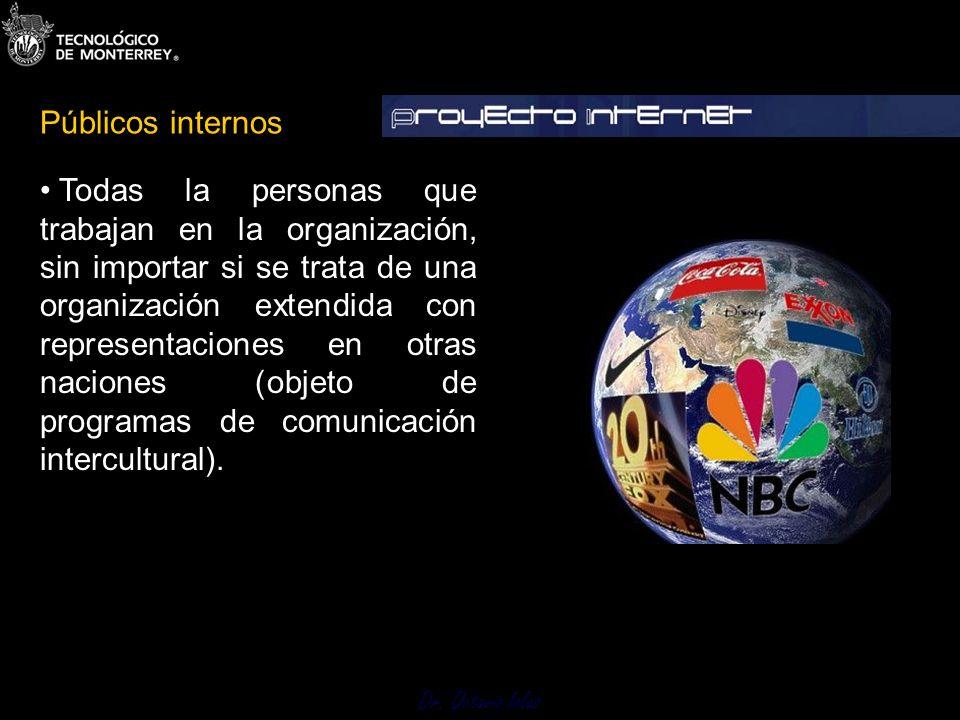 Dr. Octavio Islas Todas la personas que trabajan en la organización, sin importar si se trata de una organización extendida con representaciones en ot