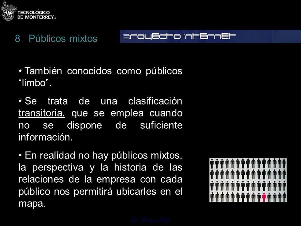 Dr. Octavio Islas También conocidos como públicoslimbo. Se trata de una clasificación transitoria, que se emplea cuando no se dispone de suficiente in