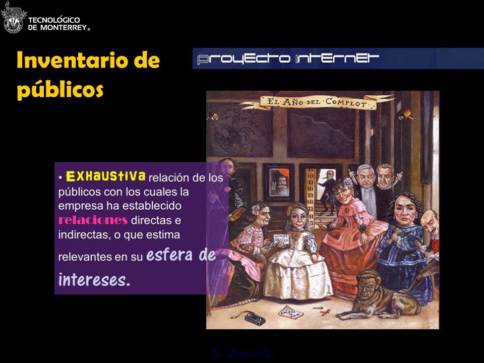 Dr. Octavio Islas 3.1 Inventario de Públicos Inventario de públicos