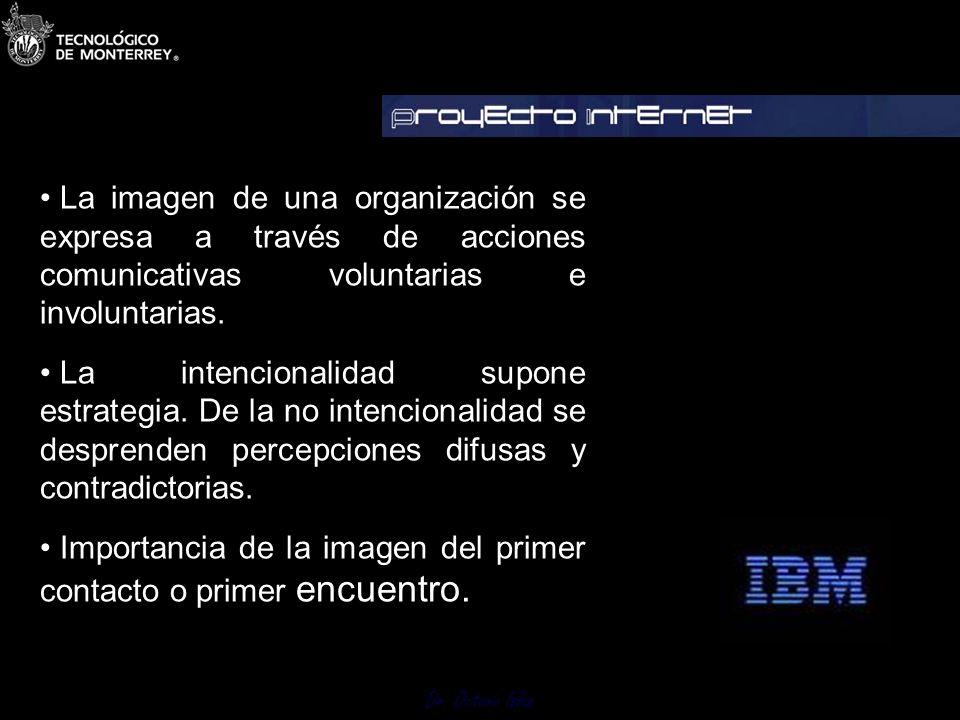 Dr. Octavio Islas 3 Imagen punto de partida Es indispensable establecerla y para ello debemos investigar distinguiendo la autopercepción de la mirada