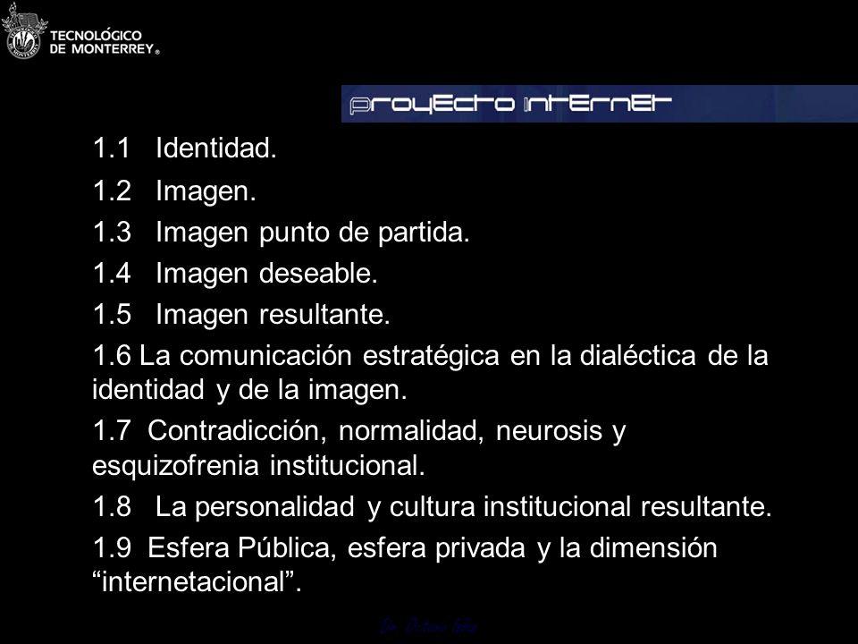Dr.Octavio Islas 1.1 Identidad. 1.2 Imagen. 1.3 Imagen punto de partida.