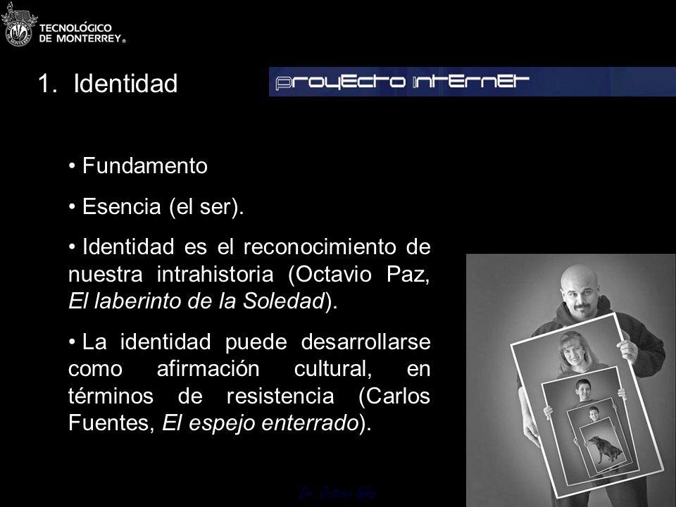 Dr. Octavio Islas 1.1 Identidad. 1.2 Imagen. 1.3 Imagen punto de partida. 1.4 Imagen deseable. 1.5 Imagen resultante. 1.6 La comunicación estratégica
