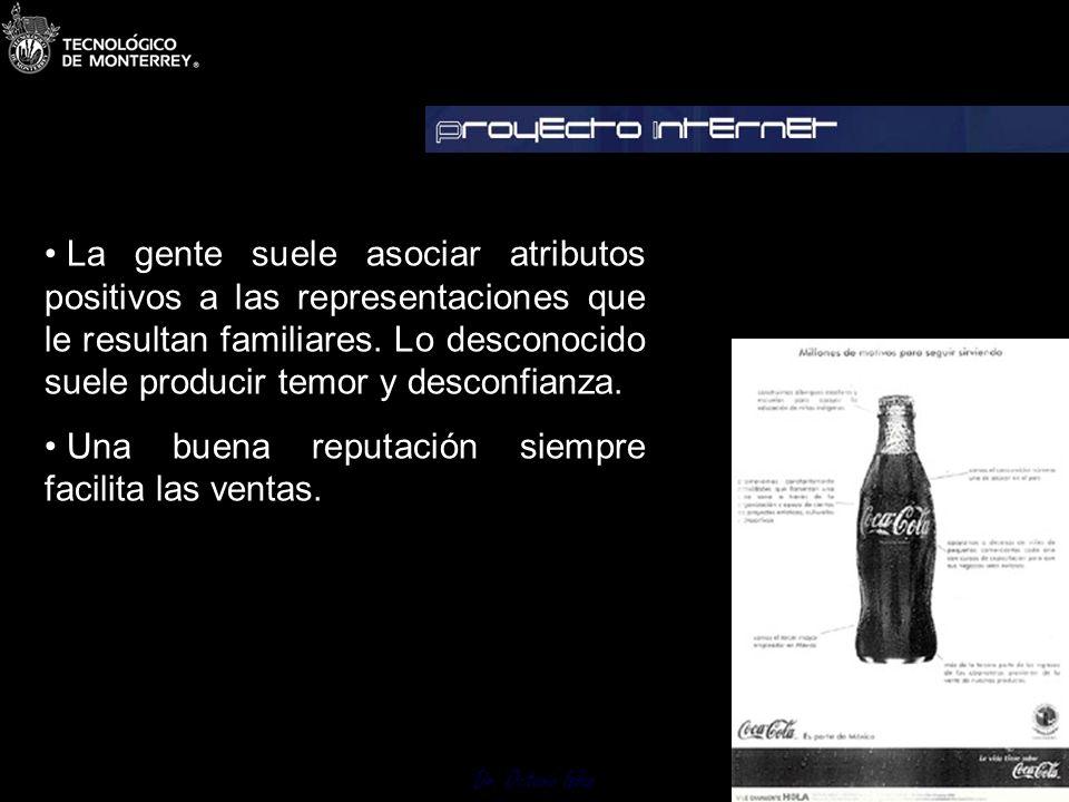 Dr. Octavio Islas Garbett afirma que la imagen de toda compañía es gobernada por seis factores: 1. La realidad de la compañía. 2. La medida en la cual