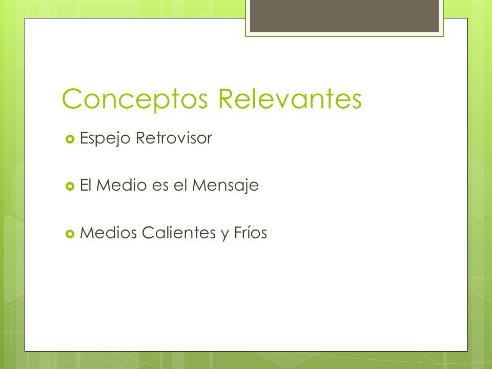 Conceptos Relevantes Espejo Retrovisor El Medio es el Mensaje Medios Calientes y Fríos