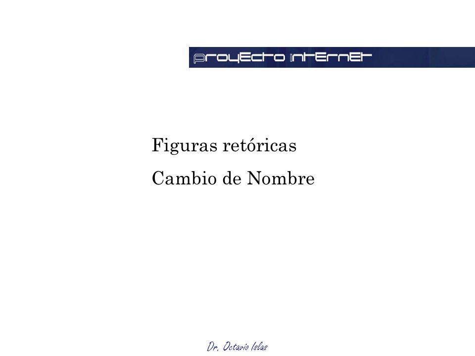 Dr. Octavio Islas Figuras retóricas Cambio de Nombre