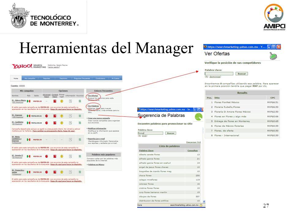 27 Herramientas del Manager