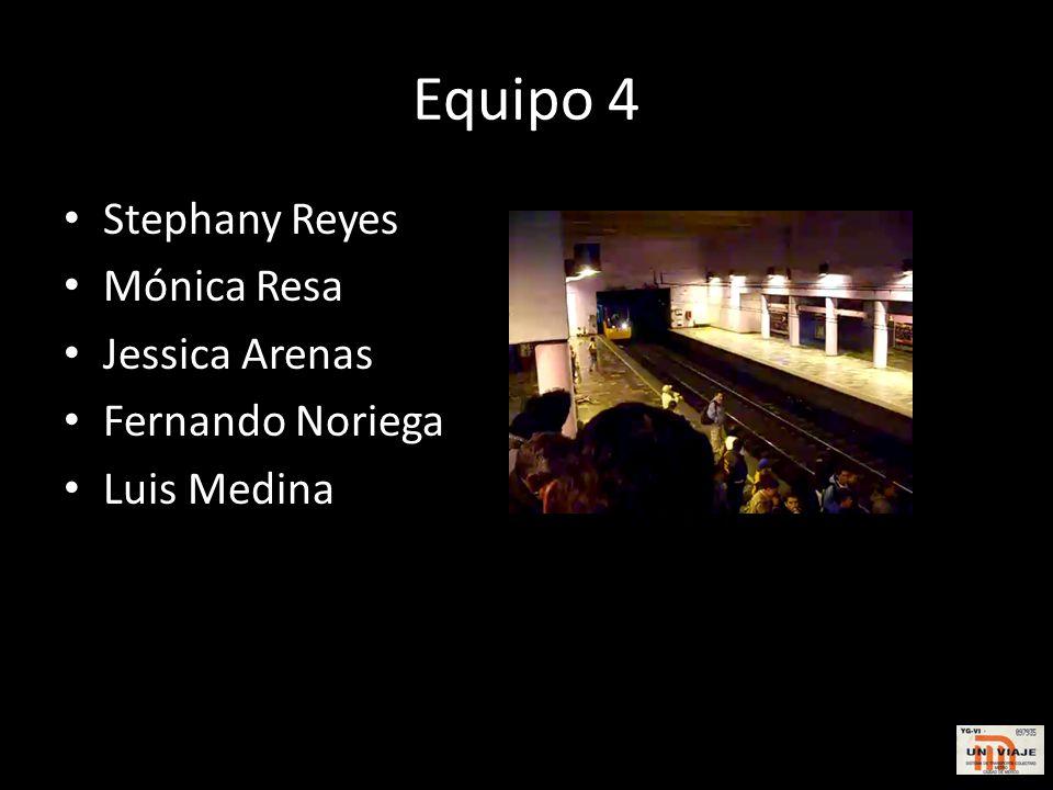 Equipo 4 Stephany Reyes Mónica Resa Jessica Arenas Fernando Noriega Luis Medina