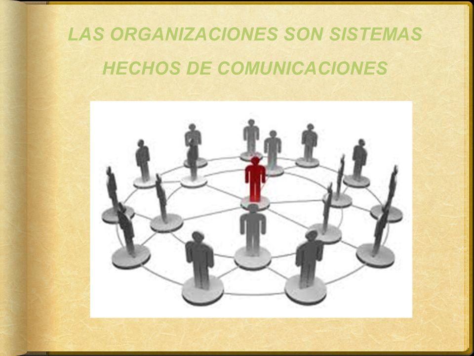 LAS ORGANIZACIONES SON SISTEMAS HECHOS DE COMUNICACIONES