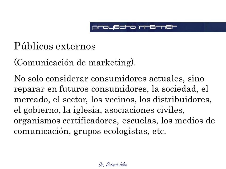 Públicos externos (Comunicación de marketing).