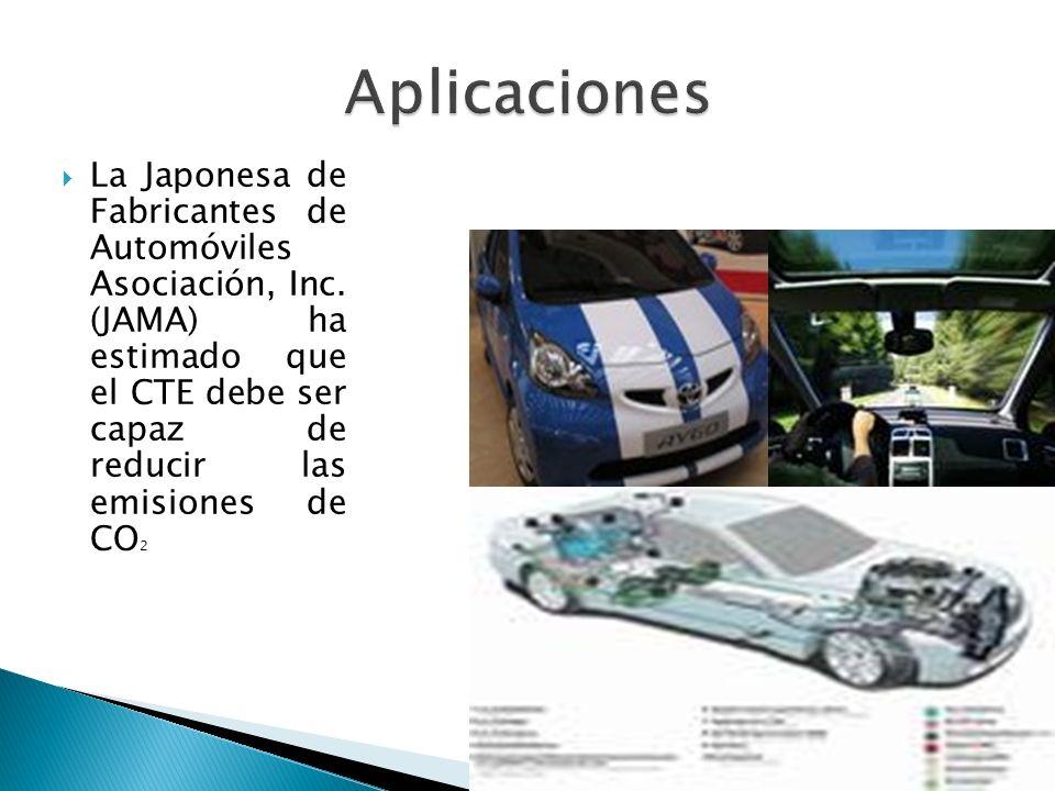 La Japonesa de Fabricantes de Automóviles Asociación, Inc. (JAMA) ha estimado que el CTE debe ser capaz de reducir las emisiones de CO 2