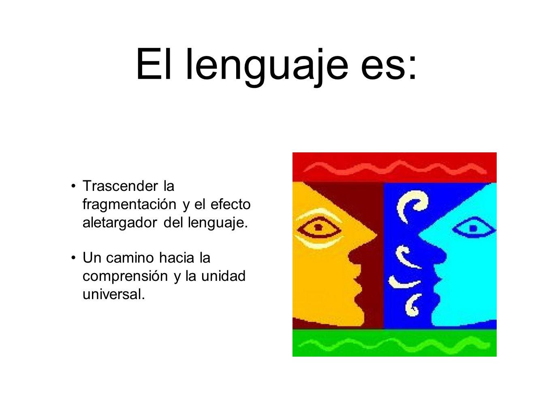 El lenguaje es: Trascender la fragmentación y el efecto aletargador del lenguaje. Un camino hacia la comprensión y la unidad universal.