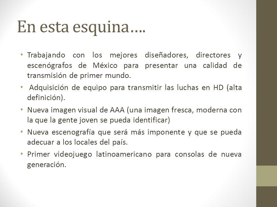 En esta esquina…. Trabajando con los mejores diseñadores, directores y escenógrafos de México para presentar una calidad de transmisión de primer mund