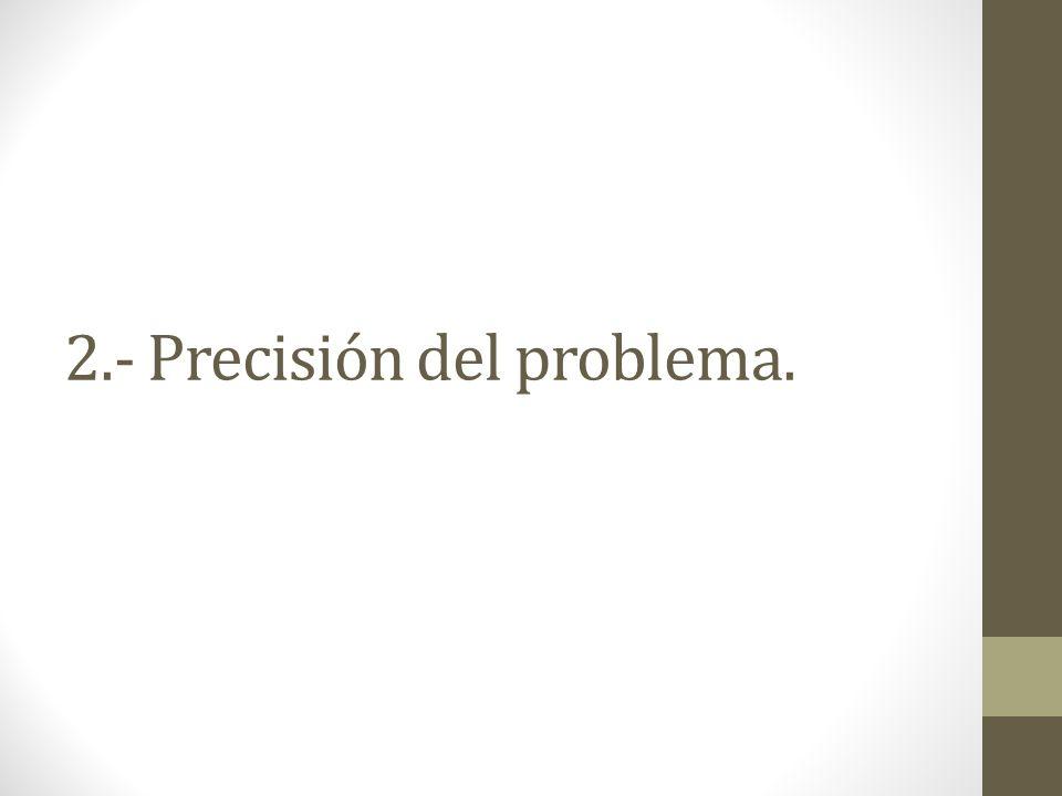2.- Precisión del problema.