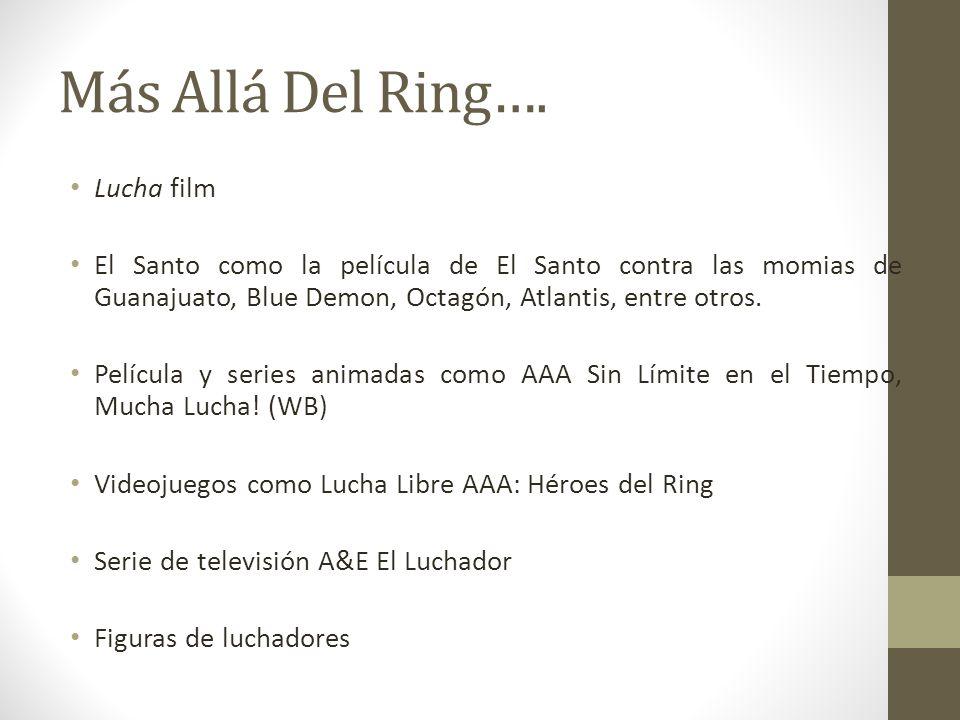 Más Allá Del Ring…. Lucha film El Santo como la película de El Santo contra las momias de Guanajuato, Blue Demon, Octagón, Atlantis, entre otros. Pelí