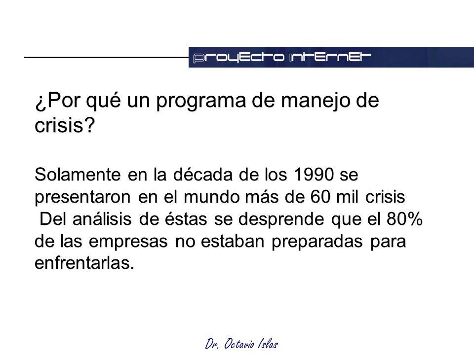Dr. Octavio Islas ¿Por qué un programa de manejo de crisis.