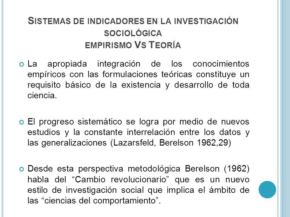 La apropiada integración de los conocimientos empíricos con las formulaciones teóricas constituye un requisito básico de la existencia y desarrollo de toda ciencia.