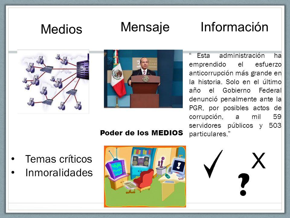 Medios MensajeInformación Esta administración ha emprendido el esfuerzo anticorrupción más grande en la historia. Solo en el último año el Gobierno Fe