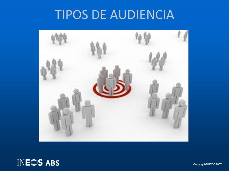 Copyright ©INEOS 2007 TIPOS DE AUDIENCIA