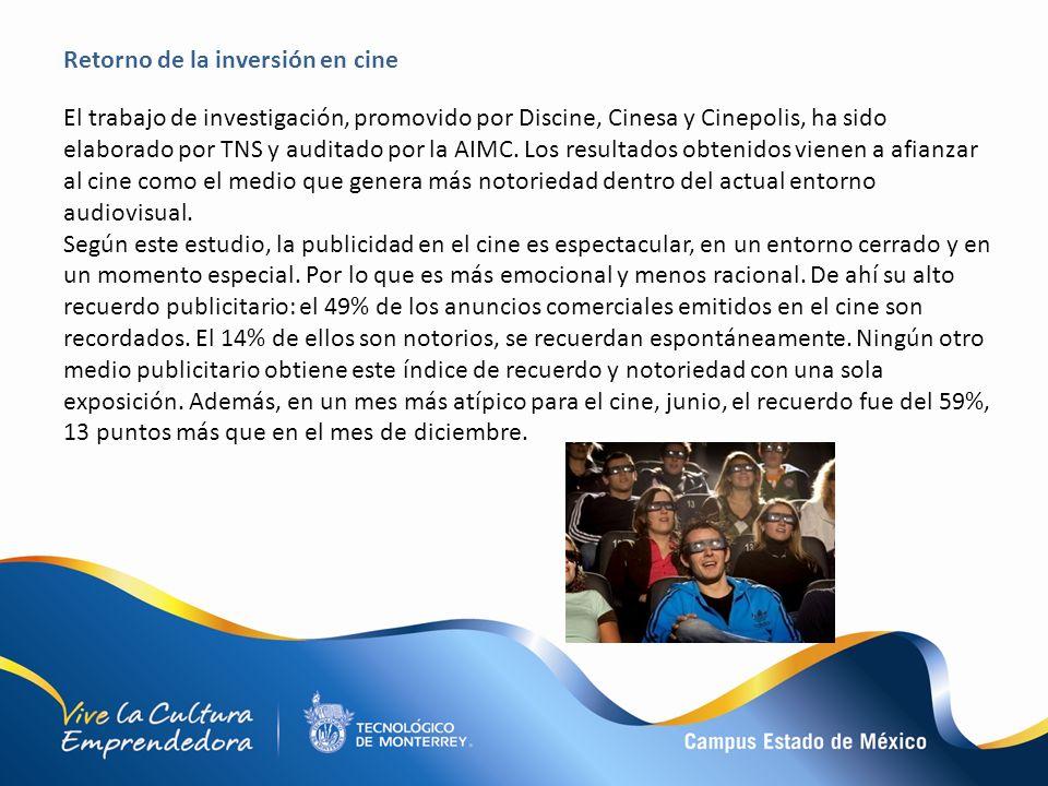 El trabajo de investigación, promovido por Discine, Cinesa y Cinepolis, ha sido elaborado por TNS y auditado por la AIMC. Los resultados obtenidos vie