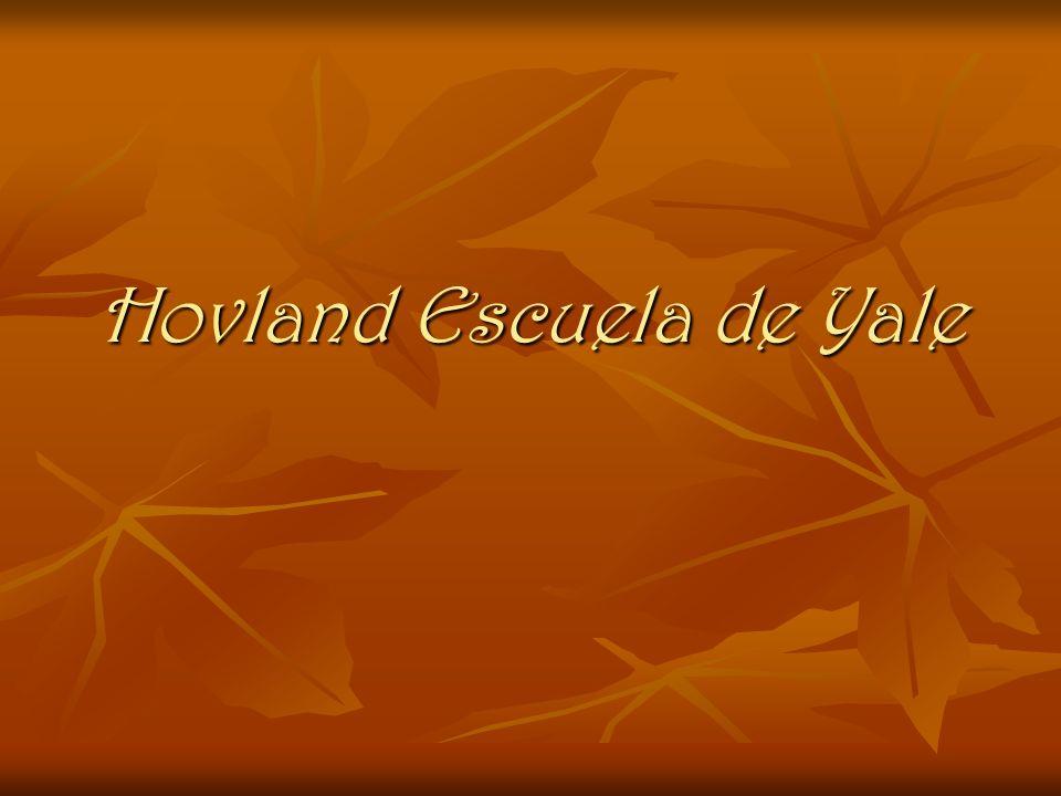 Carl Hovland Funcionalista Nació en Chicago, Estados Unidos, en 1912, estudió Matemáticas, ciencias y psicología en la Universidad de Northwestern Funcionalista Nació en Chicago, Estados Unidos, en 1912, estudió Matemáticas, ciencias y psicología en la Universidad de Northwestern Se doctoró en la Universidad de Yale bajo la dirección de Clark L.