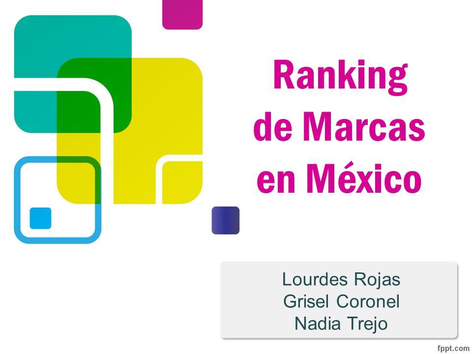 Estudio realizado por: Millward Brown y HSM (2008) Objetivo: encontrar las mejores Marcas de México tomando en cuenta la relación que estas tienen con los consumidores.
