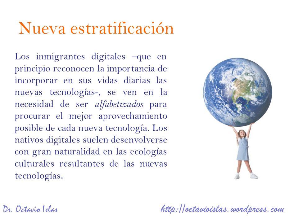 Dr. Octavio Islas http://octavioislas.wordpress.com Los inmigrantes digitales –que en principio reconocen la importancia de incorporar en sus vidas di
