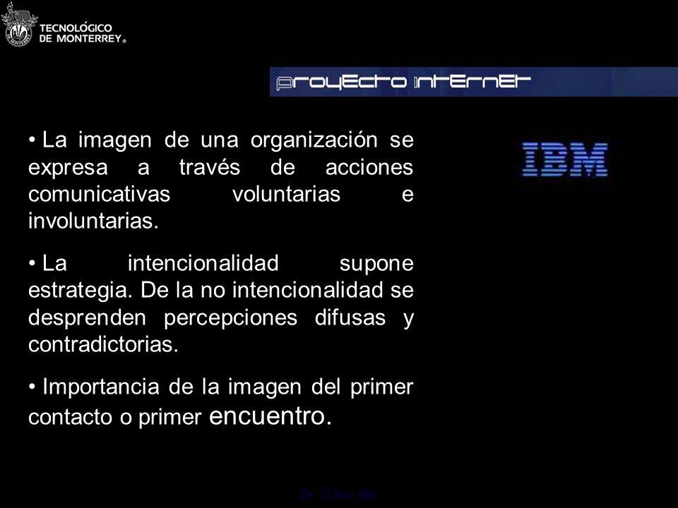 Dr. Octavio Islas 1.3 Imagen punto de partida Es indispensable establecerla y para ello debemos investigar distinguiendo la autopercepción de la mirad