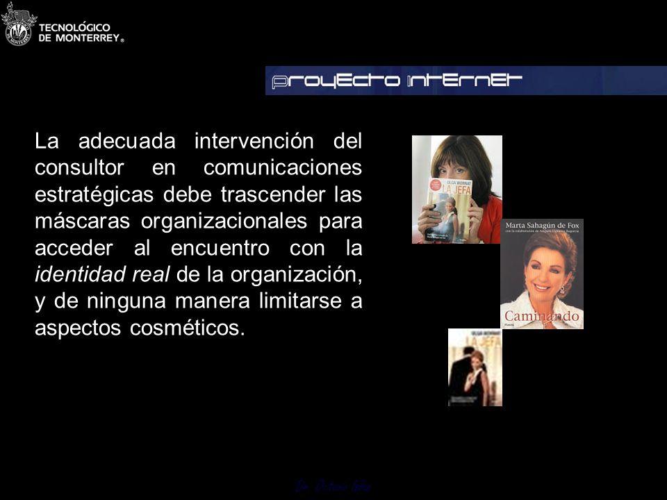Dr. Octavio Islas Escenario Precomunicativo Establecer situación imagen punto de partida Antes Escenario ComunicativoEjecutar programas de comunicacio