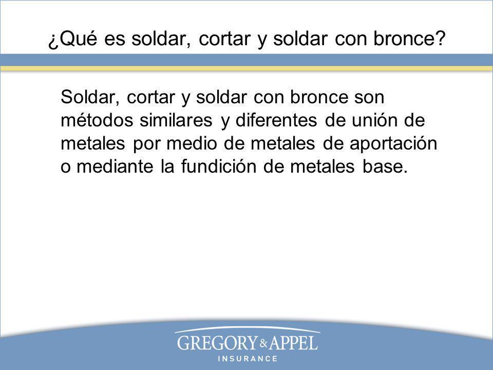 ¿Qué es soldar, cortar y soldar con bronce? Soldar, cortar y soldar con bronce son métodos similares y diferentes de unión de metales por medio de met