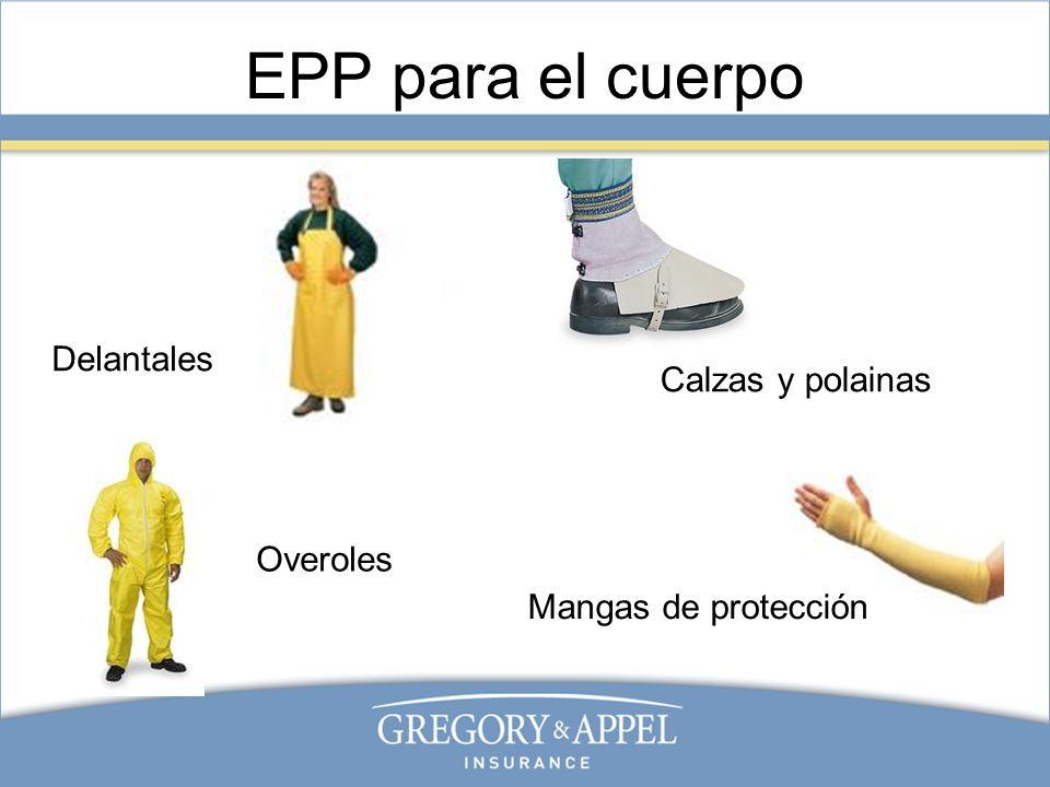 EPP para el cuerpo Delantales Mangas de protección Calzas y polainas Overoles