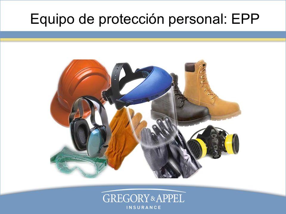 Equipo de protección personal: EPP