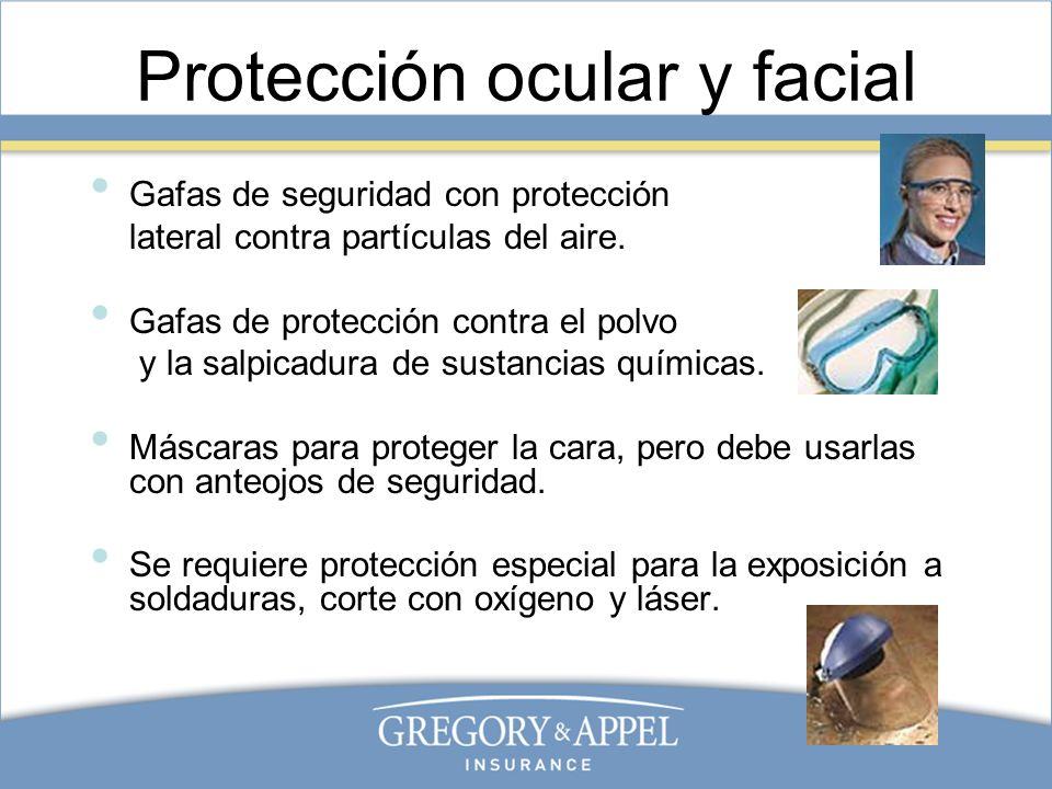 Protección para la cabeza Los cascos brindan protección contra impactos y algunos brindan protección contra descargas eléctricas.