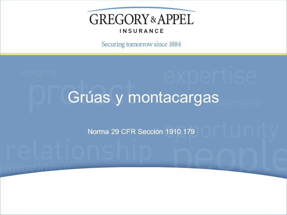 Norma 29 CFR Sección 1910.179 Grúas y montacargas