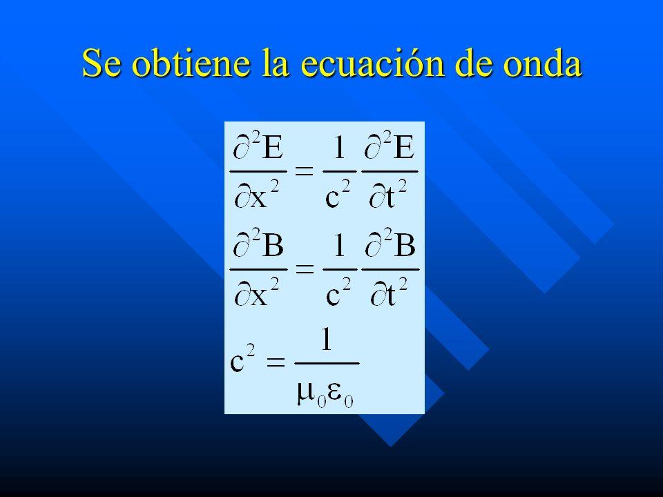 Se obtiene la ecuación de onda